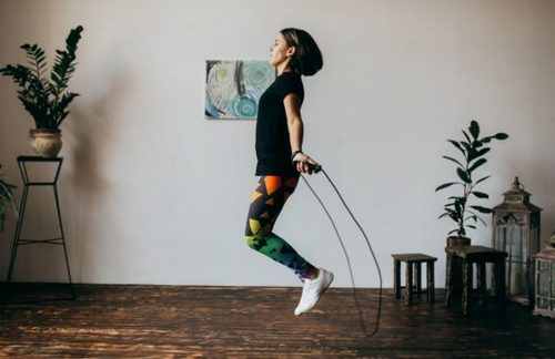 rope jump indoor exercise