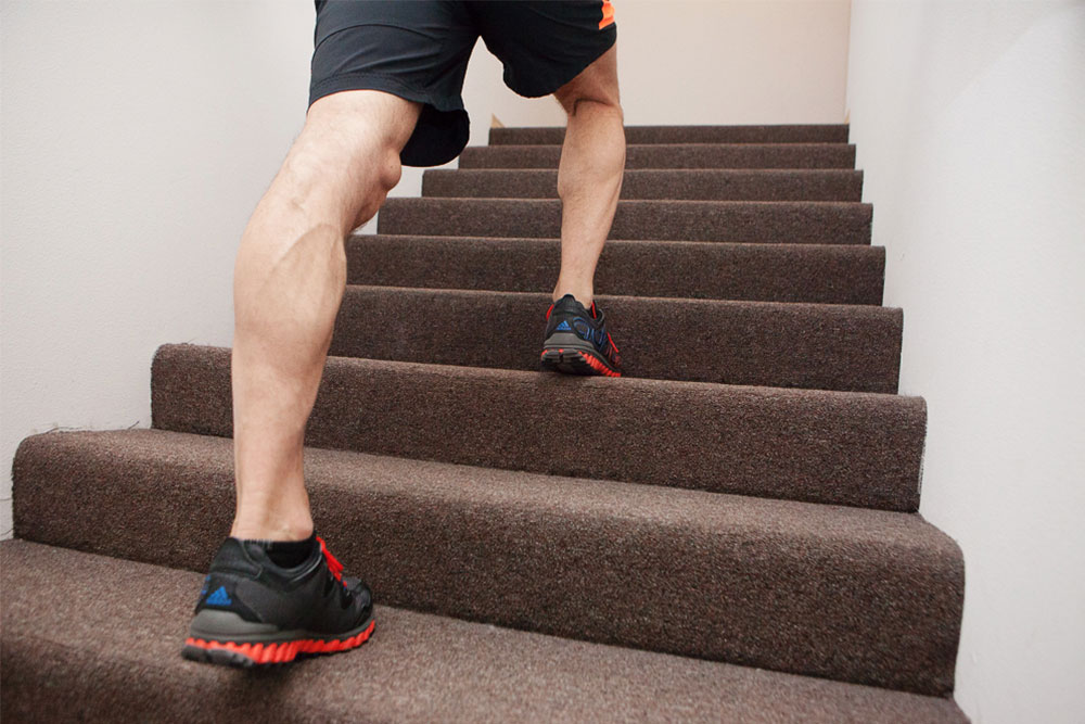 stair stepping indoor activity