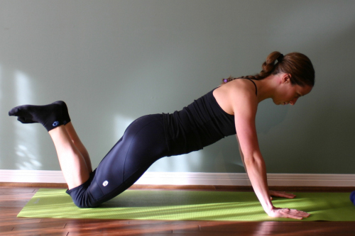 knee push up home exercise