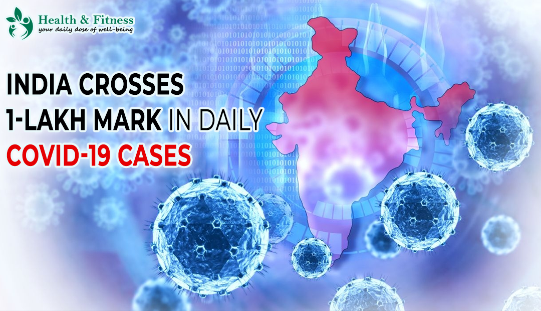 India Crosses 1-Lakh mark in daily COVID-19 Cases for the first time