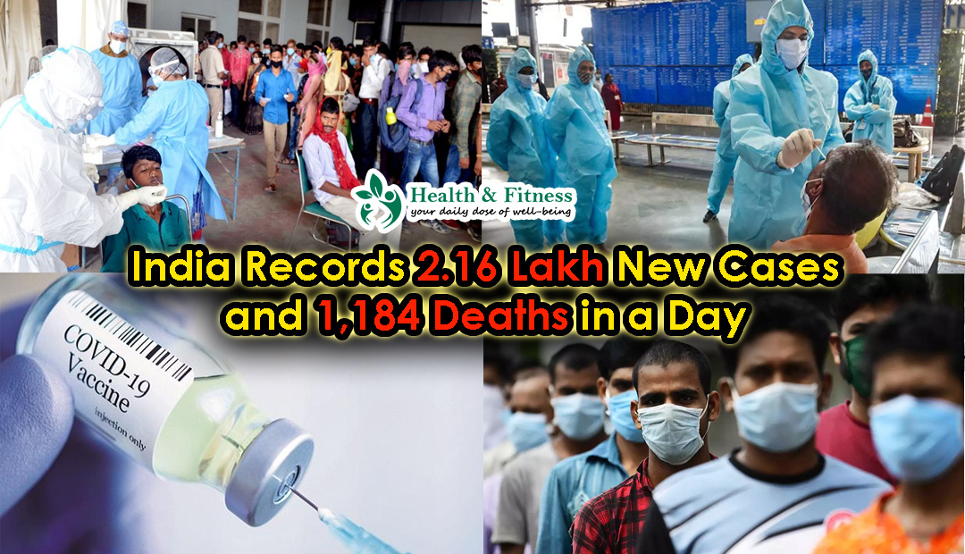 India Records over 200,000 New Cases in a day